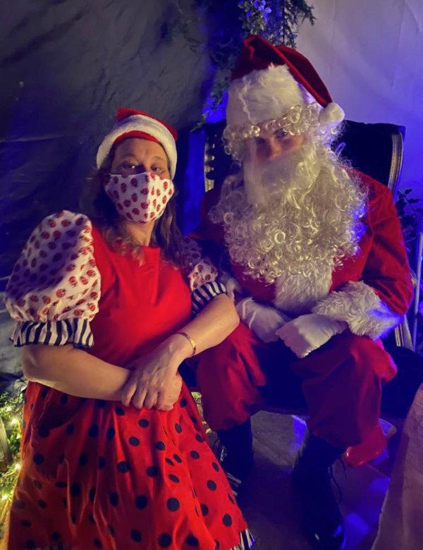 Annie and Santa at Debden Barns